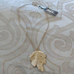 Cookie Lee Gold Leaf Necklace